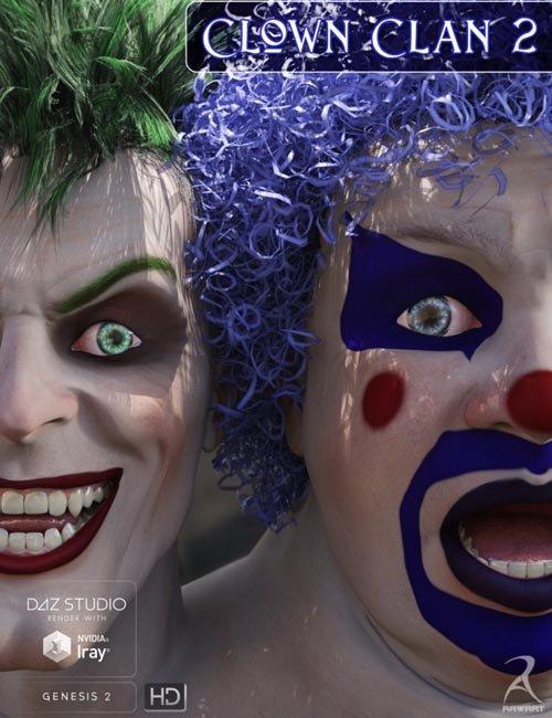 Clown Clan 2 HD [ Iray UPDATE ]