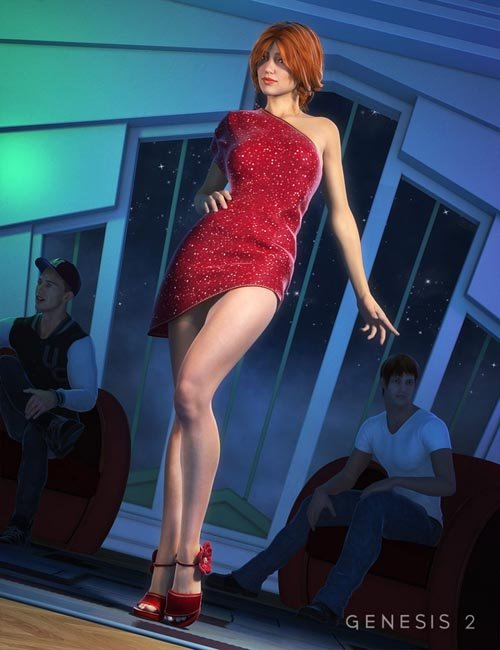 High Rise Party Dress for Genesis 2 Female(s)
