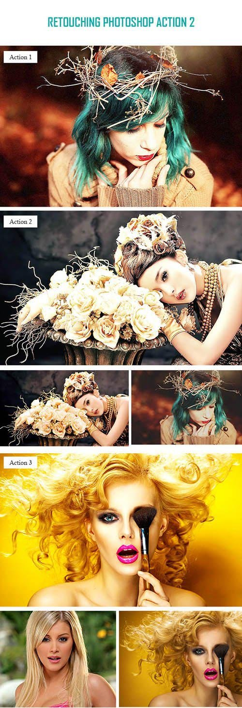 Graphicriver Retouching Photoshop Action 2 10515610
