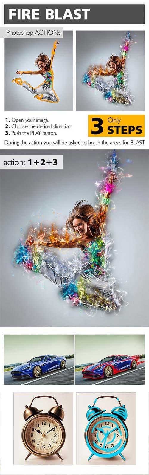 Graphicriver Fire Blast Photoshop Action 10658158