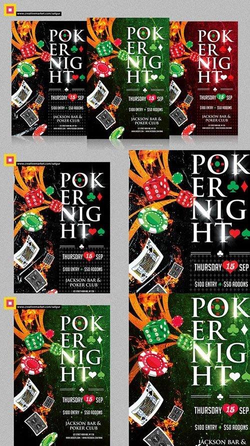 CreativeMarket Poker Night Flyer V1