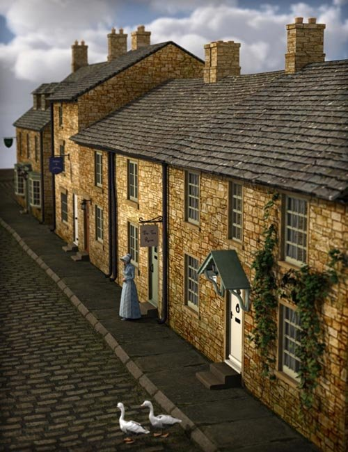 Build a Street: English Country Village [Update iray]