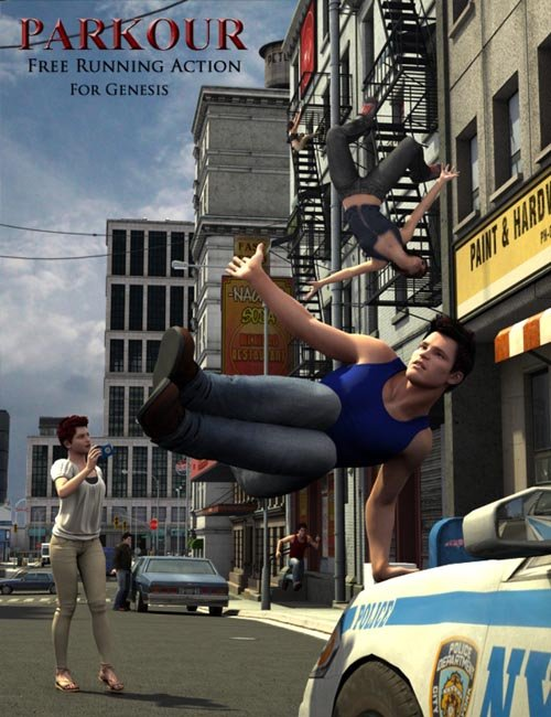 Parkour Action Poses for Genesis