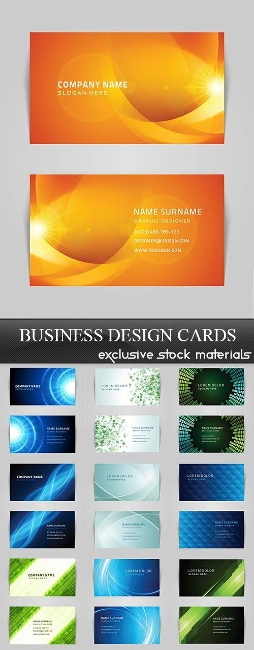 Business Design Cards, 25xEPS