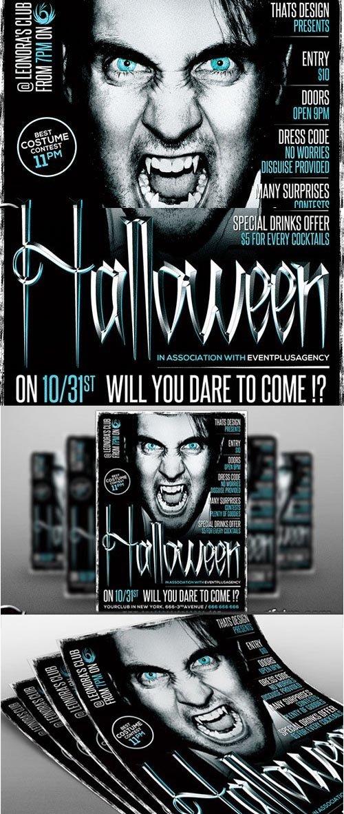 CM Halloween Flyer template V7 - 369624