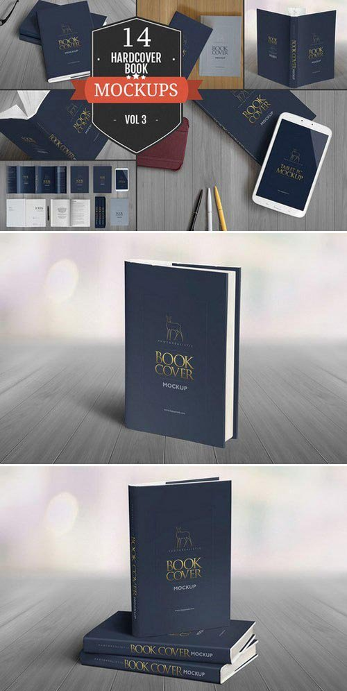 CM - Elegant Hardcover Book Mockups Vol.3 390112