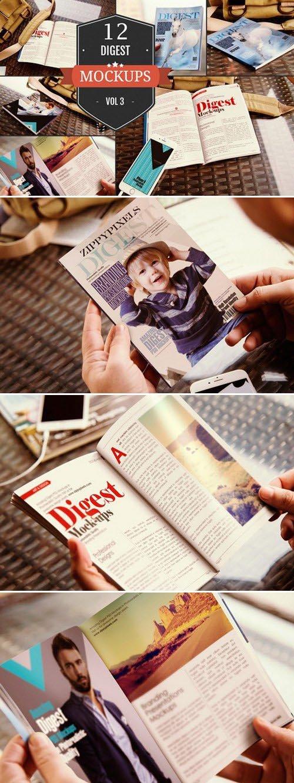 CM - Digest-Sized Magazine Mockups Vol. 3 389924