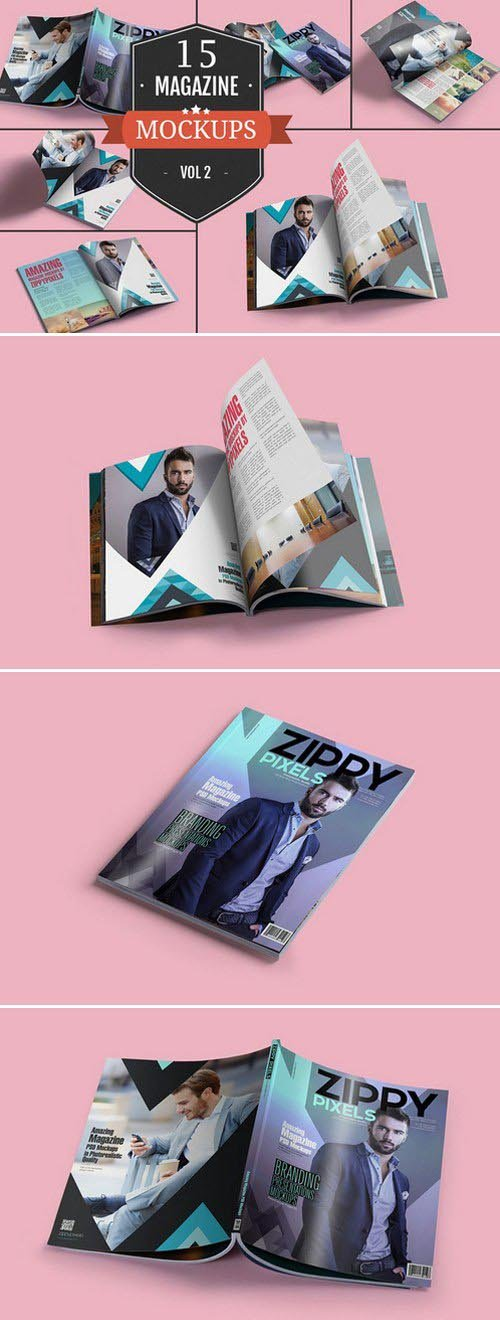 CM - Awesome Magazine PSD Mockups Vol. 2 386329