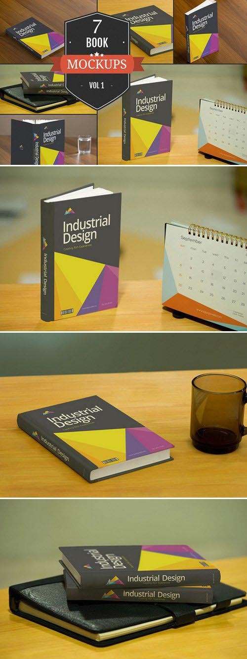 CM - Book Cover PSD Mockups Vol. 1 386255