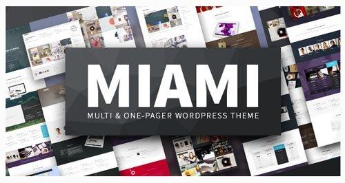 ThemeForest - Miami v1.4.8 - Multi & One Page WordPress Theme - 9222079