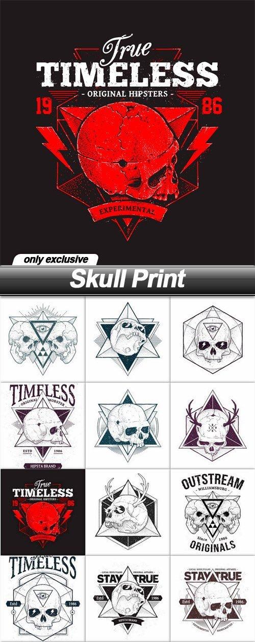Skull Print - 15 EPS