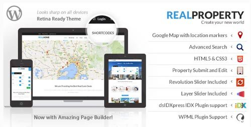 ThemeForest - Real Property v1.8.1 - Responsive Real Estate WP Theme - 7421569