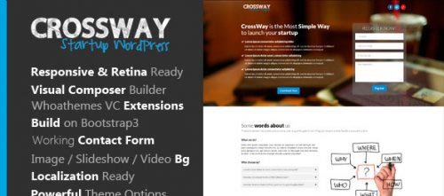 ThemeForest - CrossWay - Startup Landing Page Bootstrap WP Theme v1.1