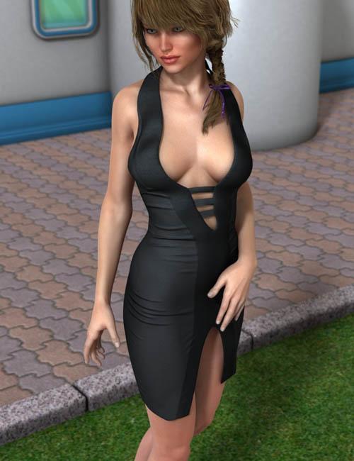 Front Slit Dress for Genesis 2 Female(s)