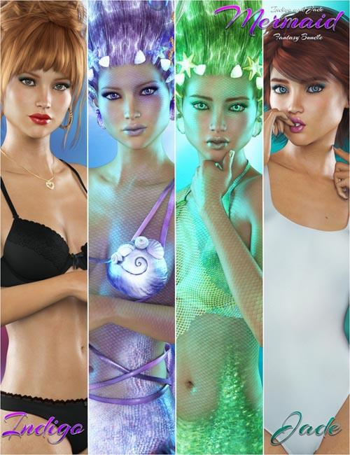 Laguna-FWSA Indigo and Jade Mermaid Fantasy Bundle
