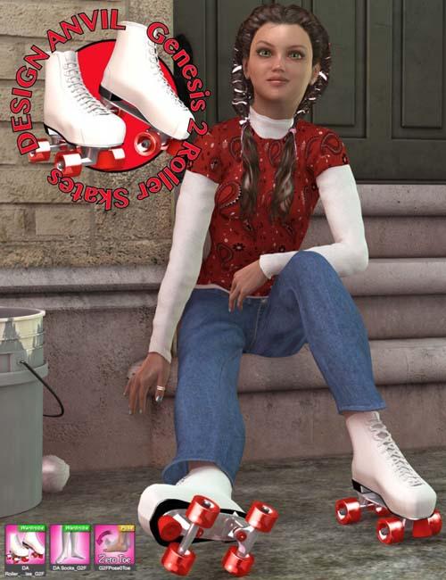 DA Roller Skates [ Iray UPDATE ]