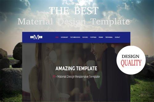 M - Material Design Template - CM 393187