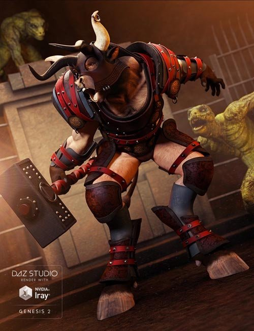 Beastial Battle Armor for Genesis 2 Male(s)