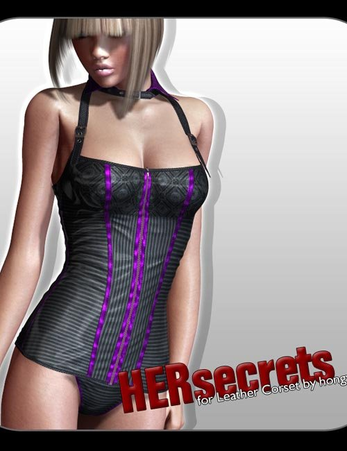 °Her Secrets° Textures for Leather Corset by hongyu