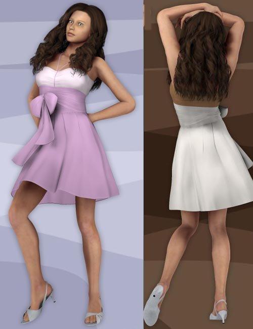 Sexy Elegant Dress for V4 (Poser)