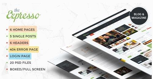 ThemeForest - Expresso v1.1 - A Modern Magazine and Blog Template - 10368119