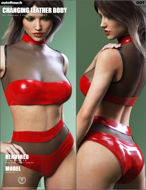 Leather Body for Genesis 3 Females