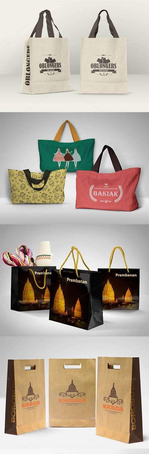 Various Shopping Bags Mockup 499785