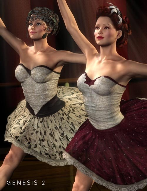Ballerina Outfit Textures for Genesis 2 Female(s)