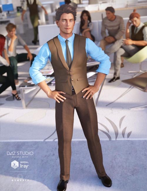 Casual Style Outfit (converted from G3M) for Genesis 8 Male