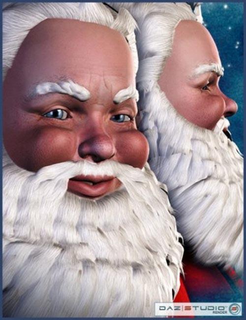 D3 Santa Hair/Beard