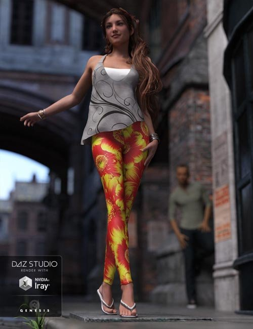 Fashion Leggings for Genesis 3 Female(s)