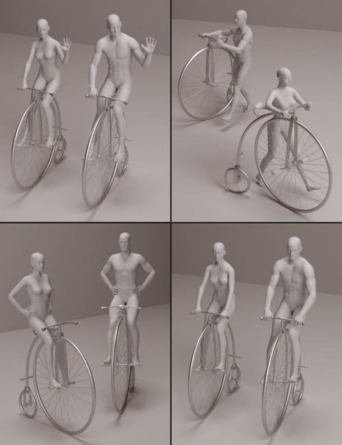Old Fashioned Bicycle Poses for M5/V5 [ G1, G2 & G3 UPDATE ]