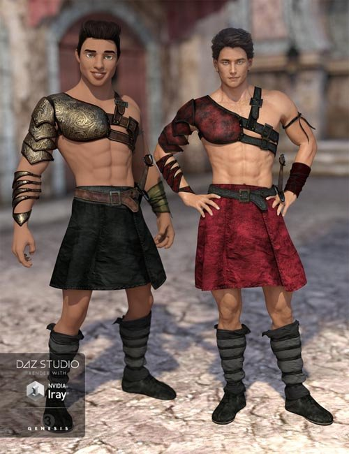 Leather Warrior Outfit Textures