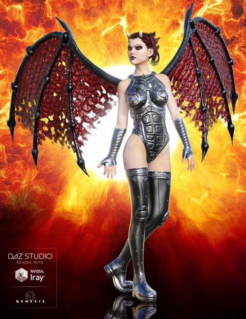 Universal Demon Wings for Genesis 3 Male(s) and Genesis 3 Female(s)