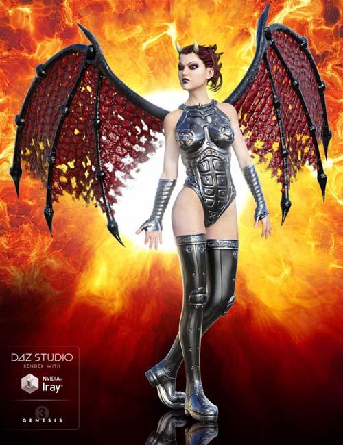 Universal Demon Wings for Genesis 3 Male(s) and Genesis 3 Female(s)
