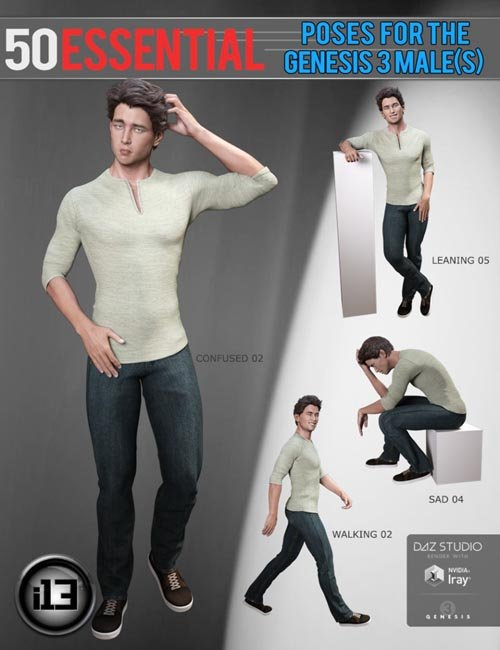 i13 50 Essential Poses for the Genesis 3 Male(s)