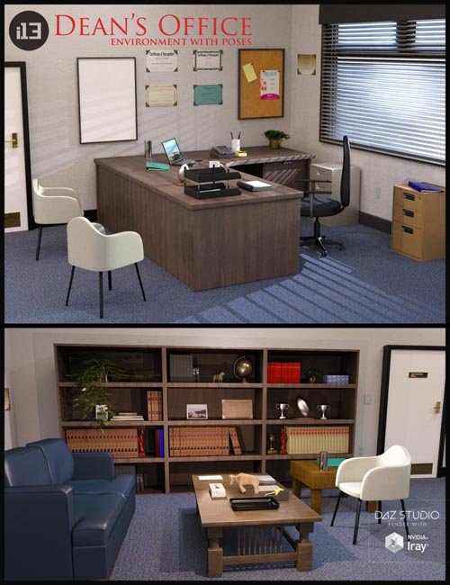 i13 Dean's Office with Poses