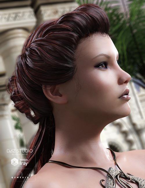 Augusta Hair for Genesis 3 Female(s)