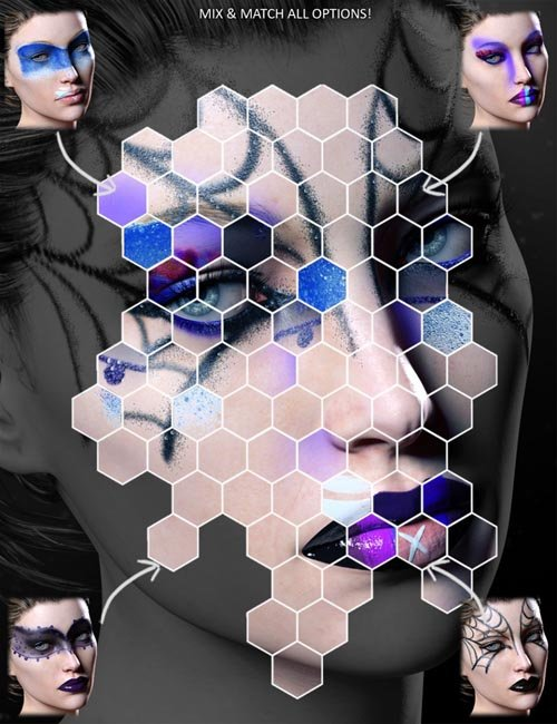 Extreme Closeup: High Fashion Makeup for Genesis 3 Female(s)