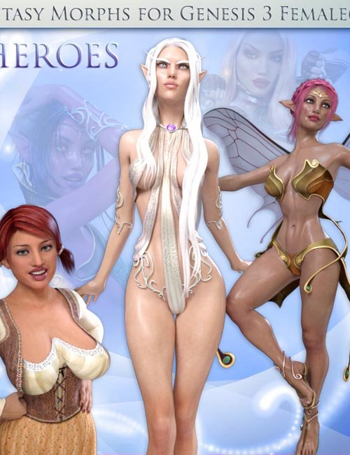 Fantasy Shapes: Heroes for Genesis 3 Females(s)