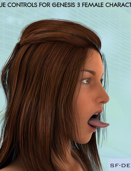 Tongue Controls for Genesis 3 Female Characters