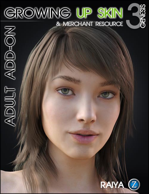 Growing Up Skin Merchant Resource for Genesis 3 Female(s) Adult Add-on