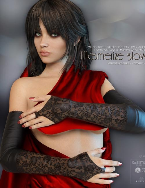 Mesmerize Gloves for Genesis 3 Females