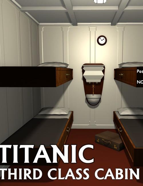 Titanic third class cabin