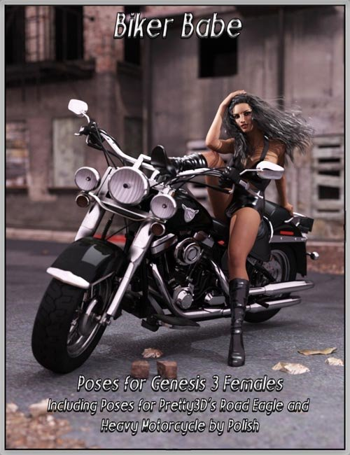 Biker Babe Poses for Genesis 3 Female