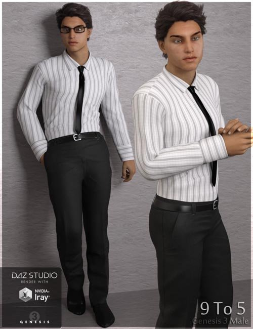 9 To 5 Outfit for Genesis 3 Male(s)