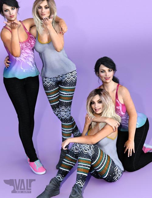 Best Friends Forever Poses for Genesis 3 Female(s)