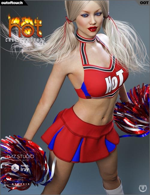 HOT Cheerleader 2 Outfit for Genesis 3 Female(s)