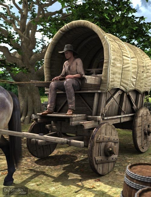 Medieval Wagon [ Iray UPDATE ]