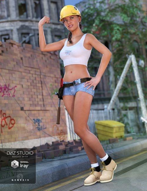 Tool Girl for Genesis 3 Female(s)
